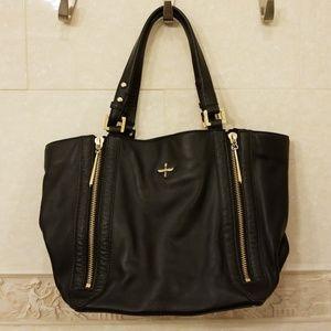 Pour La Victoire black leather tote